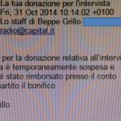 Grillo da buca a Radio Capital