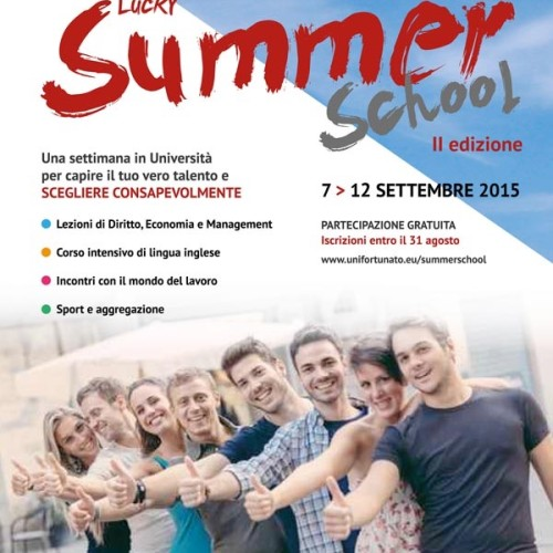 Lucky Summer School 2015, l'Unifortunato scende in campo