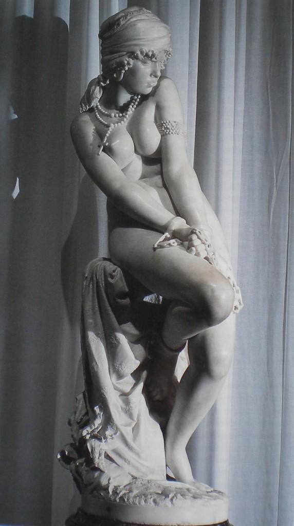 fig. 2 - Giacomo Ginotti - Emancipazione dalla schiavitù - marmo  - 155 - 54 - 70 - firmata e datata 1877 - Napoli museo di Capodimonte