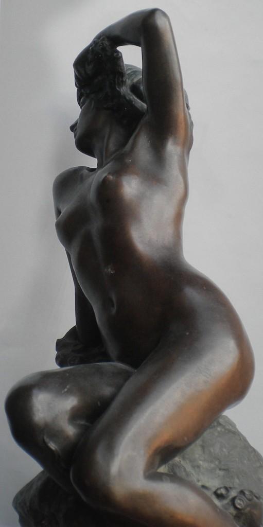 fig. 5 - Achille d'Orsi - Pathos - bronzo - 66- 34 - 32 - firmato - Roma collezione Chines