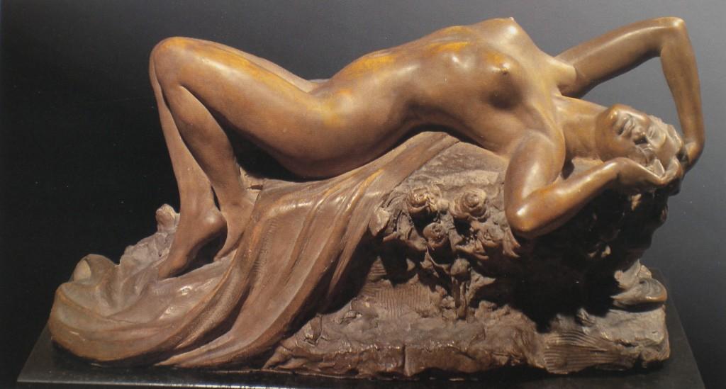 fig. 6 - Costantino Barbella - Ebbrezza - terracotta - 30 - 63 - firmata - 1912 - Italia collezione Cauli