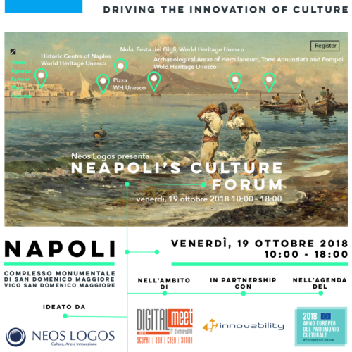 "Napoli , Arriva l'Evento ""Neapoli's Culture Forum"
